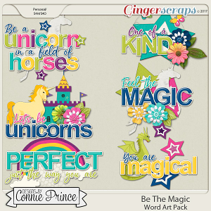 Be The Magic - Word Art Pack