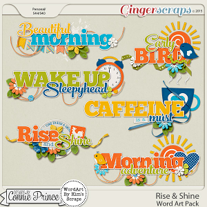 Rise & Shine - Word Art
