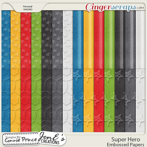 Retiring Soon - Super Hero - Embossed Papers