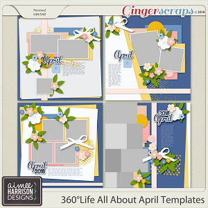 360°Life All About April Templates by Aimee Harrison