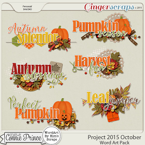 Project 2015 October - WordArt Pack
