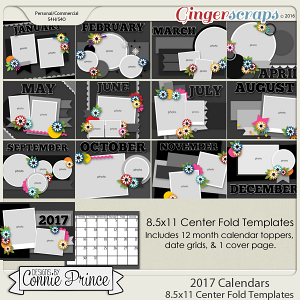 2017 Center Fold 8.5x11 Calendar Templates (CU Ok)