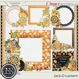 Jack O Lantern Cluster Frames