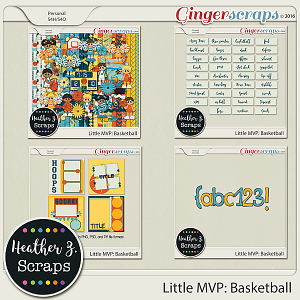 Little MVP: Basketball MEGA BUNDLE by Heather Z Scraps