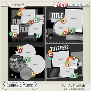 Fun At The Fair - 12x12 Templates (CU OK)