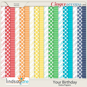 Your Birthday Extra Papers by Lindsay Jane