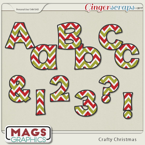 Crafty Christmas ALPHA by MagsGraphics