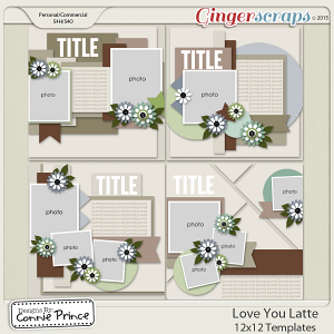 Love You Latte - 12x12 Templates (CU Ok)