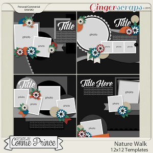 Nature Walk - 12x12 Templates (CU Ok)