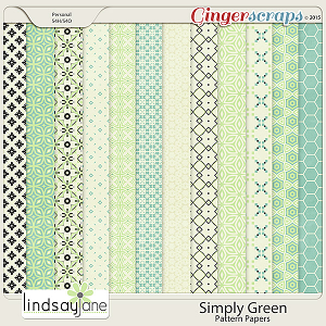 Simply Green Pattern Papers by Lindsay Jane