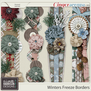 Winters Freeze Borders by Aimee Harrison