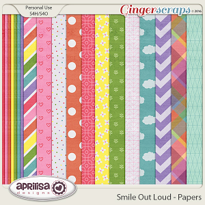 Smile Out Loud - Papers by Aprilisa Designs