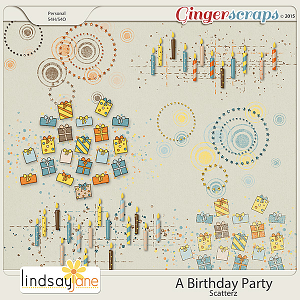A Birthday Party Scatterz by Lindsay Jane