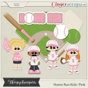 Home Run Kids- Light Pink
