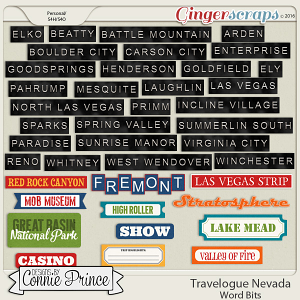 Travelogue Nevada - Word Bits