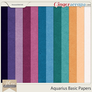 Aquarius Basic Papers by JoCee Designs