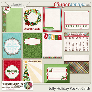 Jolly Holiday Pocket Cards by Trixie Scraps Designs