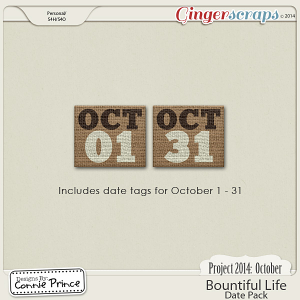 Project 2014 October: Bountiful Life - Dates