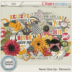 Never Give Up Elements: by CathyK Designs