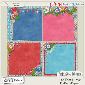 Project 2014 February:  Life That I Love - PreDeco Papers
