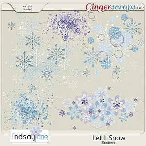 Let It Snow Scatterz by Lindsay Jane