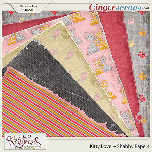 Kitty Love Shabby Papers