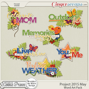 Project 2015 May - WordArt Pack