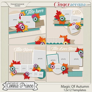 Magic Of Autumn - 12x12 Templates (CU Ok)