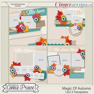 Magic Of Autumn - 12x12 Templates (CU Ok)