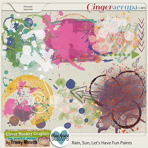 Rain, Sun, Let's Have Fun Paints by Clever Monkey Graphics & Blue Heart Scraps