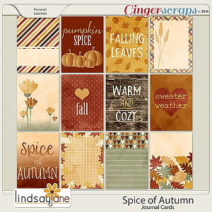 Spice of Autumn Journal Cards by Lindsay Jane