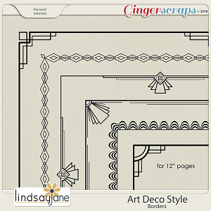 Art Deco Style Borders by Lindsay Jane