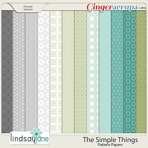 The Simple Things Pattern Papers by Lindsay Jane