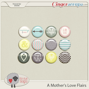 A Mother's Love Flairs by Luv Ewe Designs