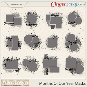Months Of Our Year Masks