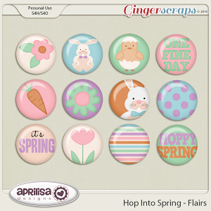 Hop Into Spring - Flairs by Aprilisa Designs