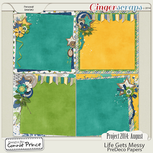 Project 2014 August: Life Gets Messy - PreDeco Papers