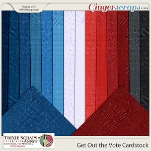 Get Out the Vote Cardstock by Trixie Scraps Designs