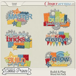 Build & Play - Word Art Pack