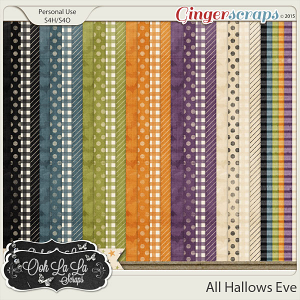 All Hallows Eve Pattern Papers