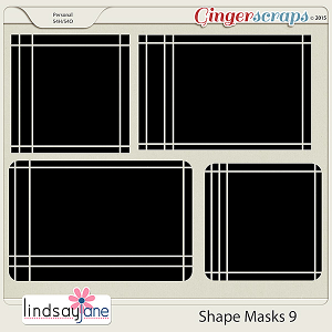 Shape Masks 9 by Lindsay Jane