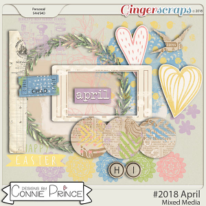#2018 April - Mixed Media by Connie Prince