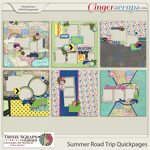 Summer Road Trip Quickpages by Trixie Scraps Designs