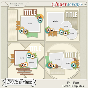 Fall Fun - 12x12 Templates (CU Ok)