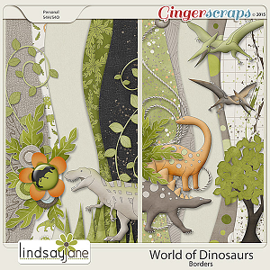 World of Dinosaurs Borders by Lindsay Jane