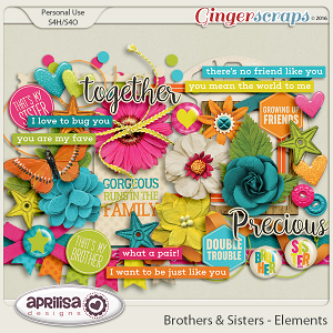 Brothers & Sisters - Elements by Aprilisa Designs