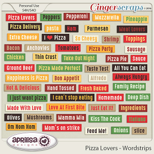 Pizza Lovers - Wordstrips