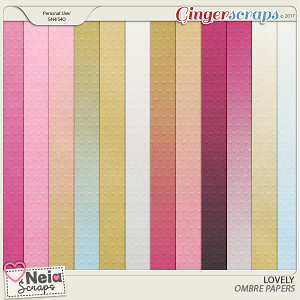 Lovely - Ombre Papers - by Neia Scraps