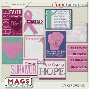 Cancer Crusher JOURNAL CARDS