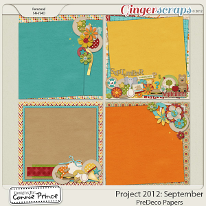 Retiring Soon - Project 2012:  September - PreDeco Papers